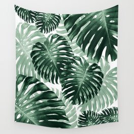 Tropical Monstera Jungle Leaves Pattern #1 #tropical #decor #art #society6 Wall Tapestry