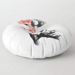Natalia Vodianova // Fashion Illustration Floor Pillow
