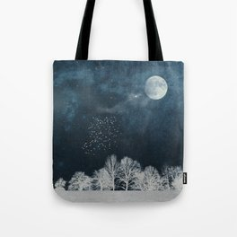 Night in Blue and White Tote Bag