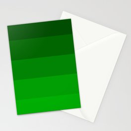 Irish Kelly Green Ombre Stripes Stationery Cards
