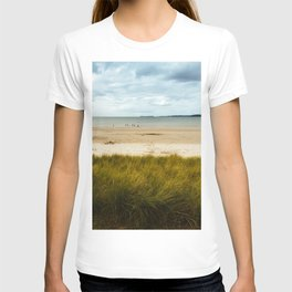 Beach against cloudy sky in Brittany T-shirt