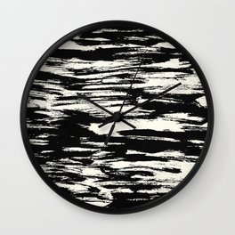 Brush Stripe 2 Wall Clock