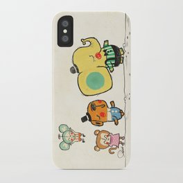 Walking with you iPhone Case