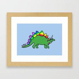 Stegocorn (Unicorn Stegosaurus) Framed Art Print