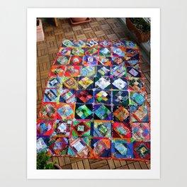 The Roadrunner Quilt Art Print
