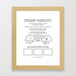 Feeling Forecast - Kid's Dry Erase Reusable Worksheet for Learning Emotional Regulation Framed Art Print