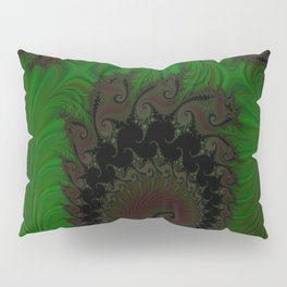 Feathered Friends In Green Pillow Sham