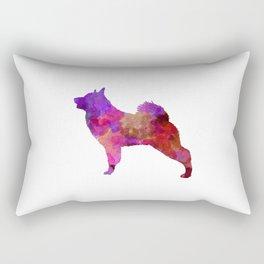 Norwegian Elkhound in watercolor Rectangular Pillow