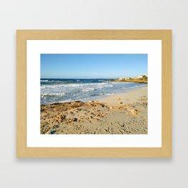 Beach Playa de Ses Covetes. Mallorca Spain Framed Art Print