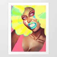nicki Art Prints featuring nicki minajprint by Full Ten