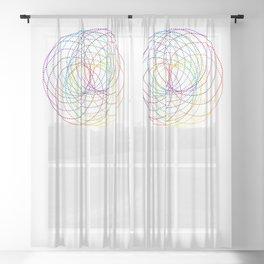 Rainbow Slinky Sheer Curtain