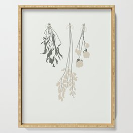 Dried Flowers illustration Serving Tray