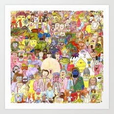 The Fuzzy Crowd Art Print