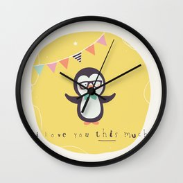 Pete Penguin Wall Clock