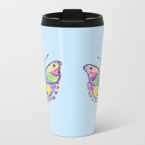 Butterfly II Metal Travel Mug