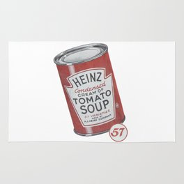 Heinz tomato soup can Rug