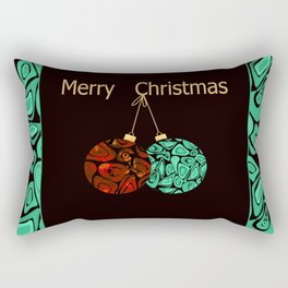 merry Christmas . Rectangular Pillow