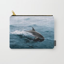 Dolphin in the Atlantic Ocean - Wildlife Photography Carry-All Pouch