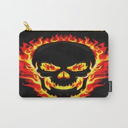Flame Skull Carry-All Pouch
