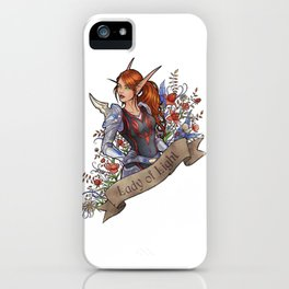 Lady of Light iPhone Case