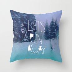 Let's Run Away: Rainier National Forest, Oregon Throw Pillow