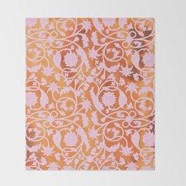 Pink Lotus Pattern Throw Blanket