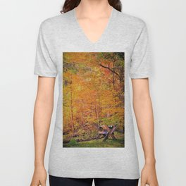Autumn Magic Unisex V-Neck