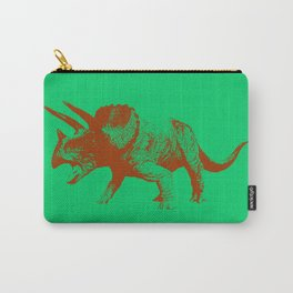 Vintage Toy Dinosaur  |  Triceratops Carry-All Pouch