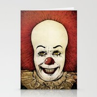 pennywise Stationery Cards featuring It - Pennywise (Color Version) by Sinpiggyhead
