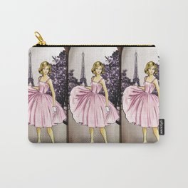 Pretty In Pink In Paris Carry-All Pouch