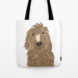A doodle of a Golden Doodle Tote Bag