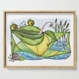 Frog with curls – Lockenfrosch Serving Tray