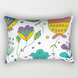 Flowers, flower meadow, nature Rectangular Pillow