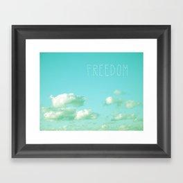 Freedom over Clouds Framed Art Print