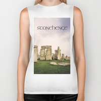 religious Biker Tanks featuring Stonehenge by Solar Designs