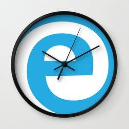 at mark with e Wall Clock