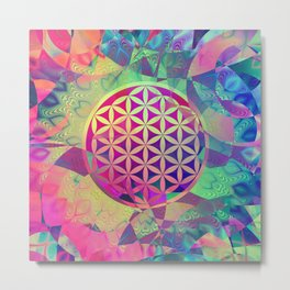 Flower Of Life (Midst Of Abstraction) Metal Print