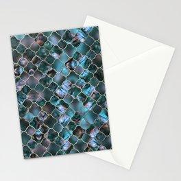 Quatrefoil Moroccan Pattern Labradorite Stationery Cards
