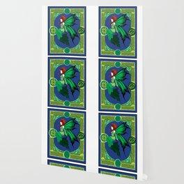Celtic Green Fairy Wallpaper