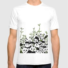 A Pandemonium of Pandas  MEDIUM White Mens Fitted Tee
