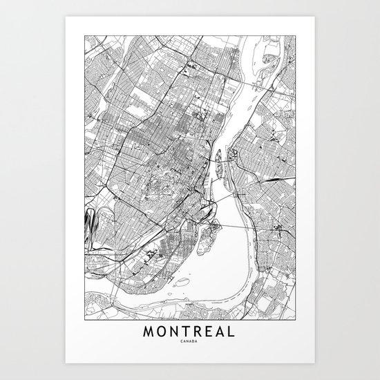Montreal White Map by multiplicity