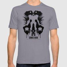 Samus Aran Metroid Geek Psychological Diagnosis Ink Blot  Slate MEDIUM Mens Fitted Tee