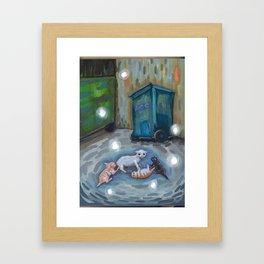 Back alley shenanigans Framed Art Print