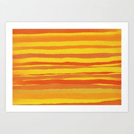 Red and Yellow Bristles (airbrushed) Art Print