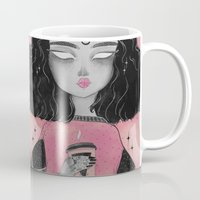 loll3 Mugs featuring Beverly by lOll3