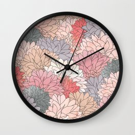 Hydrangea Haven - Muted Colors Wall Clock