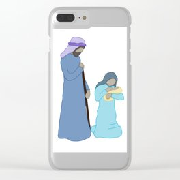 Jesus Mary and Joseph Clear iPhone Case