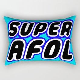 SUPER AFOL in Brick Font Logo Design [Alternate Colors] by Chillee Wilson Rectangular Pillow