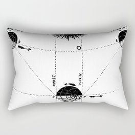 Orbit of Venus Rectangular Pillow