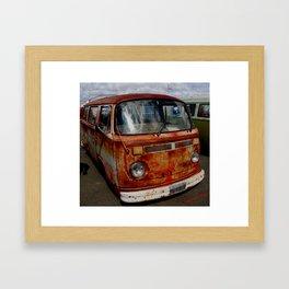 rusted bus Framed Art Print